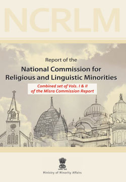 Misra Commission Report - Ministry of Minorities - Government of India